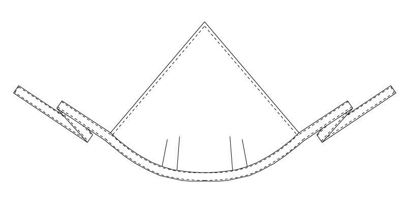 AS-5925 チトセ(アルベ) 三角巾(男女兼用) ハンガーイラスト・線画