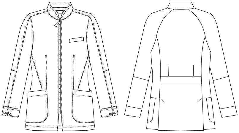 MZ-0055 ミズノ(mizuno) レディースハーフコート(女性用) ハンガーイラスト・線画