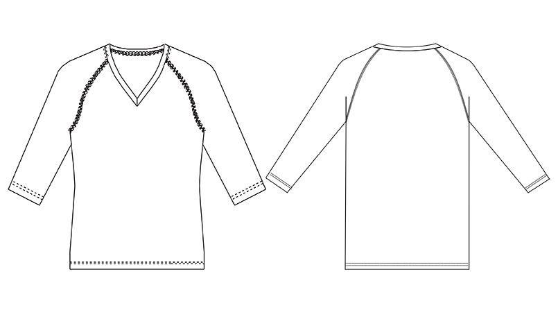 MZ-0135 ミズノ(mizuno) アンダーウェア(男性用)スクラブインナー七分袖 ハンガーイラスト・線画