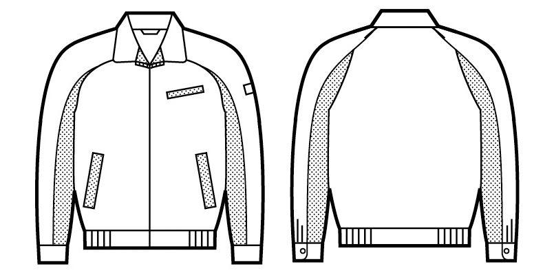 自重堂 47820 エコ 5バリュー 長袖ブルゾン(JIS T8118適合) ハンガーイラスト・線画