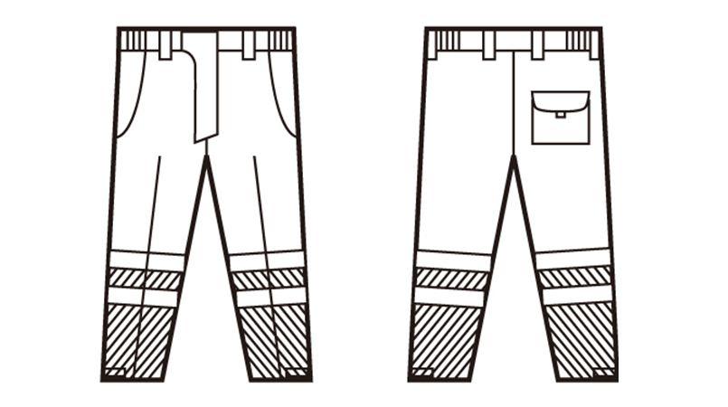 48471 自重堂 高視認防水防寒パンツ ハンガーイラスト・線画