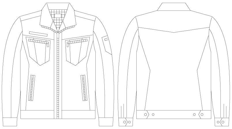 自重堂JAWIN 55800 [春夏用]長袖ジャンパー(新庄モデル) ハンガーイラスト・線画