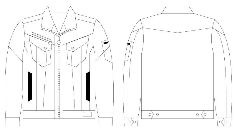 自重堂JAWIN 56400 [春夏用]長袖ジャンパー(新庄モデル) ハンガーイラスト・線画