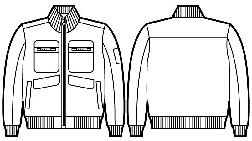 自重堂 58120 JAWIN 防寒ブルゾン ハンガーイラスト・線画