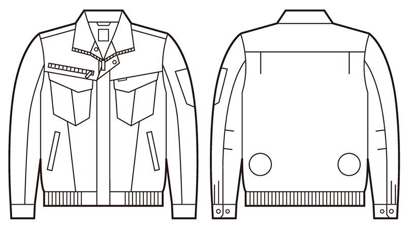 74010 自重堂Z-DRAGON 空調服 長袖ブルゾン ハンガーイラスト・線画