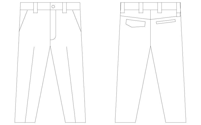 自重堂Z-DRAGON 75201 [春夏用]ノータックパンツ(男性用) ハンガーイラスト・線画