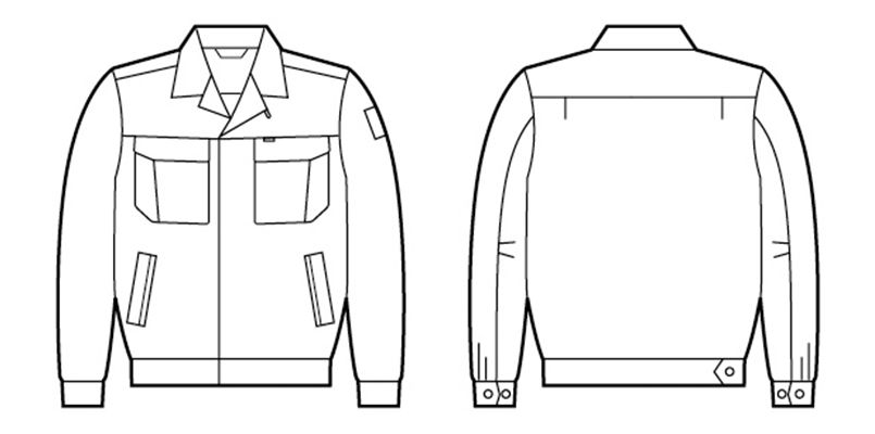 自重堂 84600 [春夏用]綿100%長袖ジャンパー ハンガーイラスト・線画