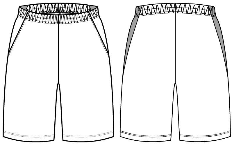 自重堂WHISEL WH90156 ドライハーフパンツ(男女兼用) ハンガーイラスト・線画